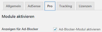 Ad Blocker Modul aktivieren