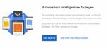 Automatische Anzeigen von AdSense