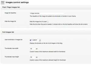 image source control settings panel