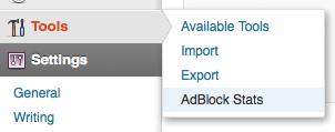BlockAlyzer AdBlock Stats Tab