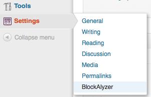 BlockAlyzer Settings