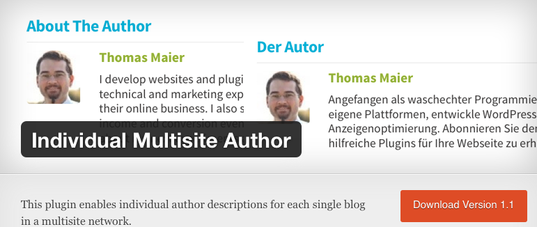Individual Multisite Author on wordpress.org