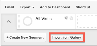 import user segment gallery button
