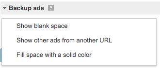 Backup ads
