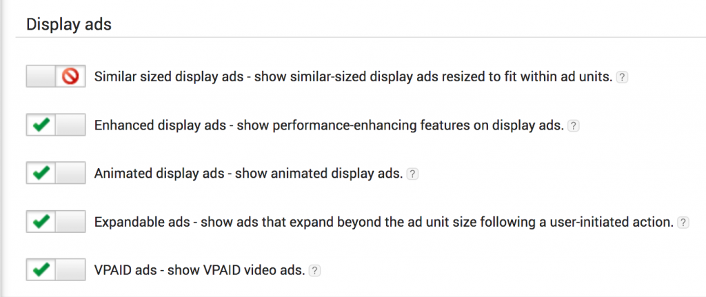 AdSense similar-size option